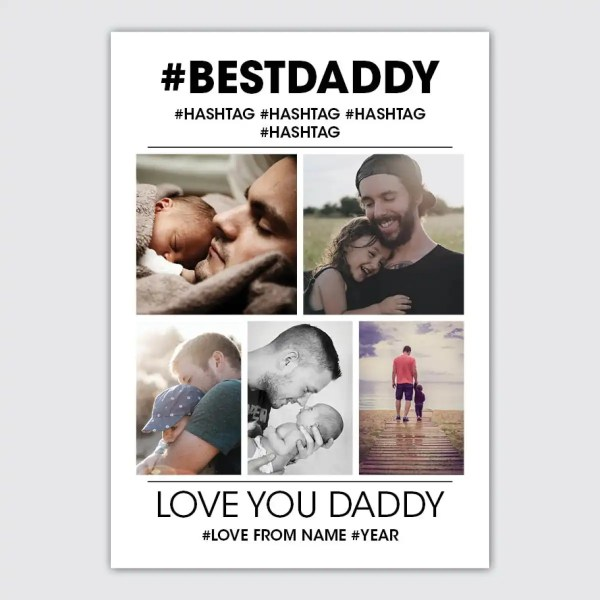personalised photo collage poster for daddy