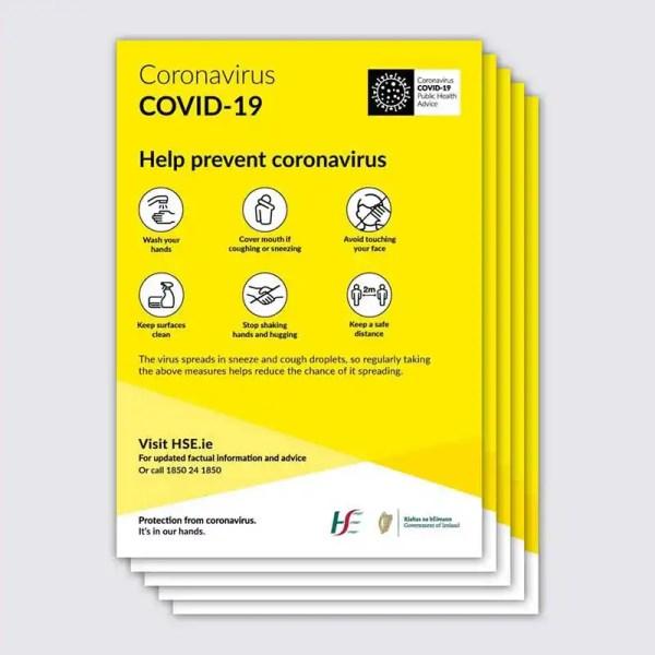 Coronavirus Covid 19 Prevention Poster