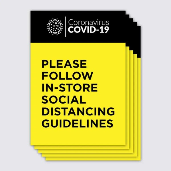 Coronavirus Covid-19 Yellow and Black Shop Poster