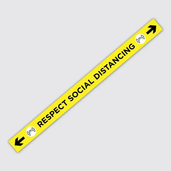 Covid-19 Coronavirus Respect Social Distancing Floor Sticker