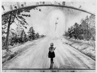 Mariette sur le chemin vers la Vierge des Pauvres
