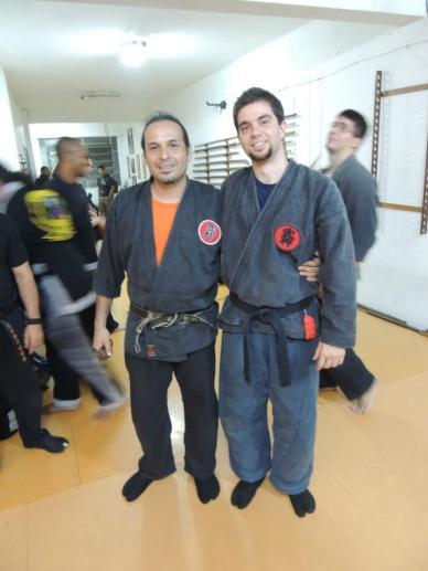 My teacher (Miguel Greg Shidoshi) and me