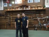 Me & Noguchi Sensei after class at Bujinkan Hombu Dojo (Bujinden). 2013.