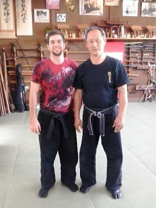 After my 5th Dan Test. Nagato Sensei at Bujinkan Hombu Dojo, 2013. Japan.