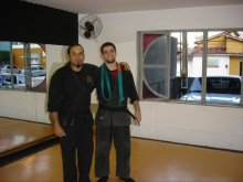 After my black belt exam with my teacher, Fortaleza.