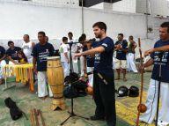 Presenting Budo Taijutsu in Capoeira Resistência Exam, 2012. Fortaleza, Brazil.