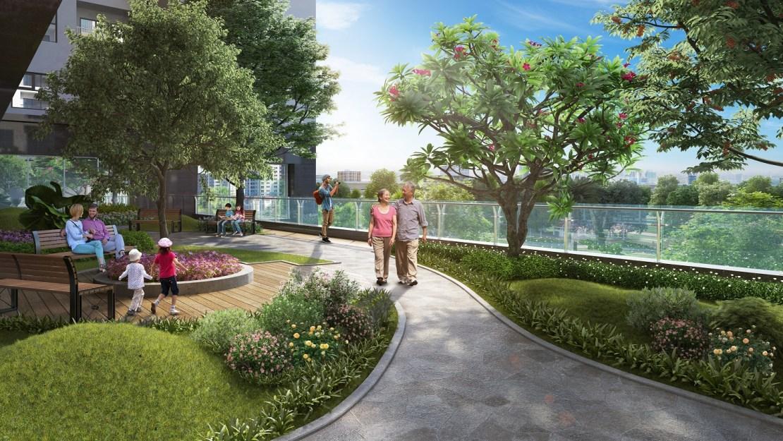 green park trần thủ độ vườn dạo bộ
