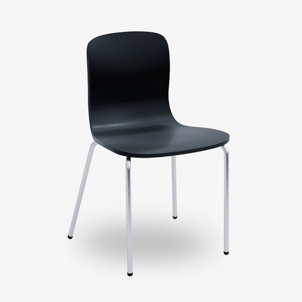 stapelbar konferensstol vit svart grå
