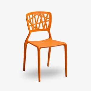 inca staplingsbar stol cafémöbler restaurangmöbler grön vit svart orange