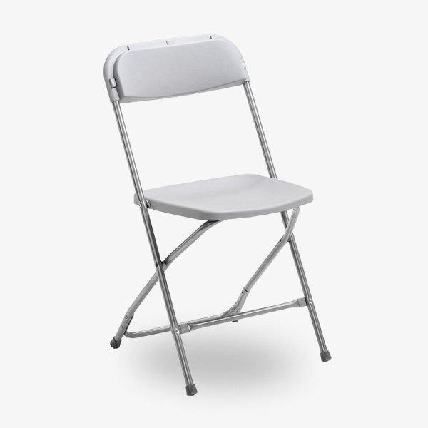 fällbar grå klappstol konferensstol smart plast utomhusbruk