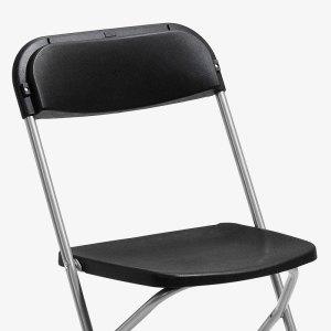 fällbar svart klappstol konferensstol smart plast utomhusbruk