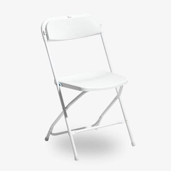 fällbar vit klappstol konferensstol smart plast utomhusbruk