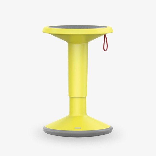 upis1 gul höjbar sänkbar pall kontorsmöbler