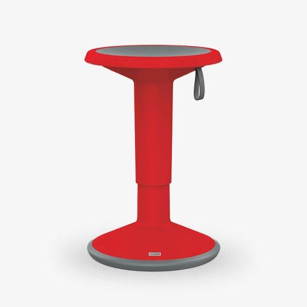 upis1 röd höjbar sänkbar pall kontorsmöbler