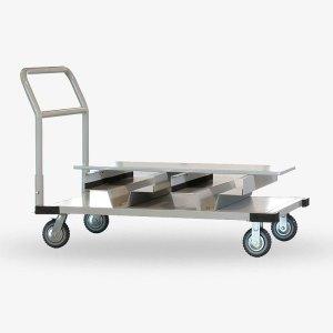 Transportvagn köstolpar - Rostfritt stål