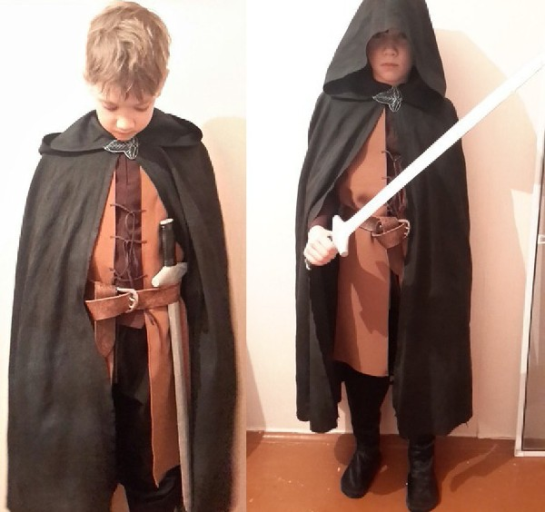 New Year's costume for boy Aragorn