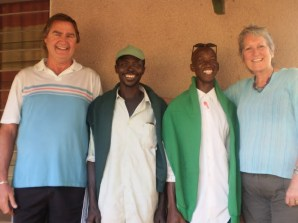 Colin & Heather Acheson with the Adama & Lamin, who keep the MITIE house pristine