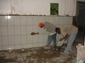 New tiling throughout (floor and wall tiles)