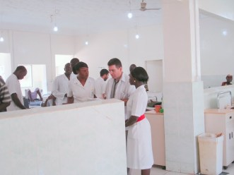 A Cuban doctor doing his daily ward round on the new Female Ward