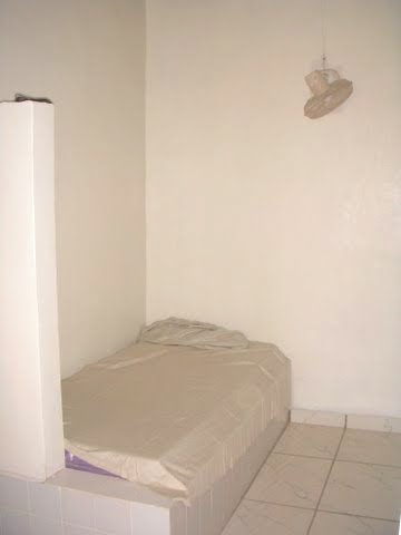 One of 12 single bed sitting rooms for nursing staff