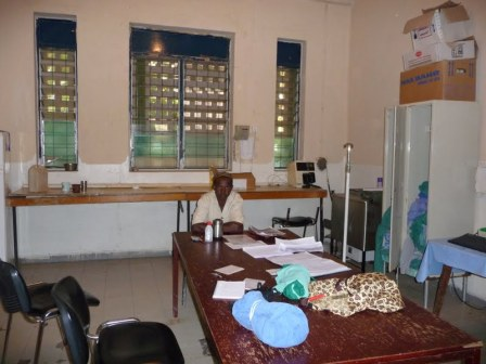 This room houses the sterilising area as well as the staff office.