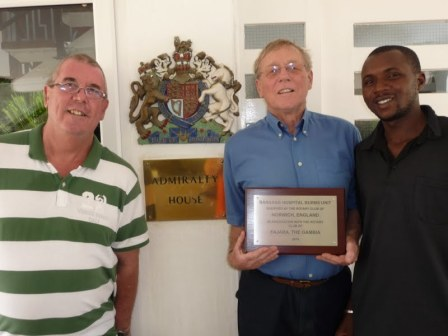 His Excellency, British High Commissioner Phil Sinkinson, OBE, alongside Chris Ayling and PNO Wandifa Samateh of Bansang Hospital