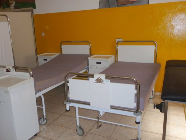 Beds on the childrens ward burns unit.