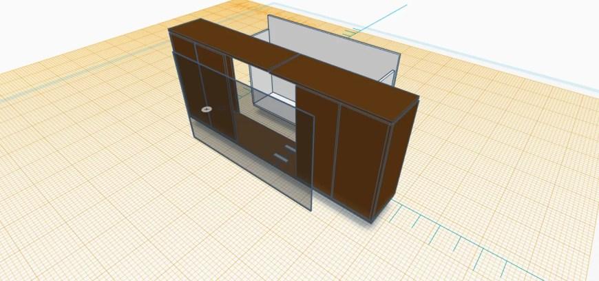 terrarium entertainment center 3D model