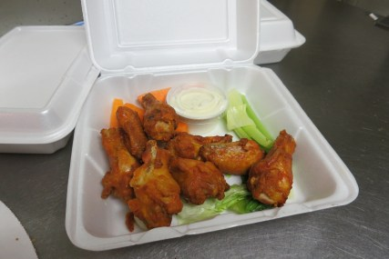 Hot wings ready to go