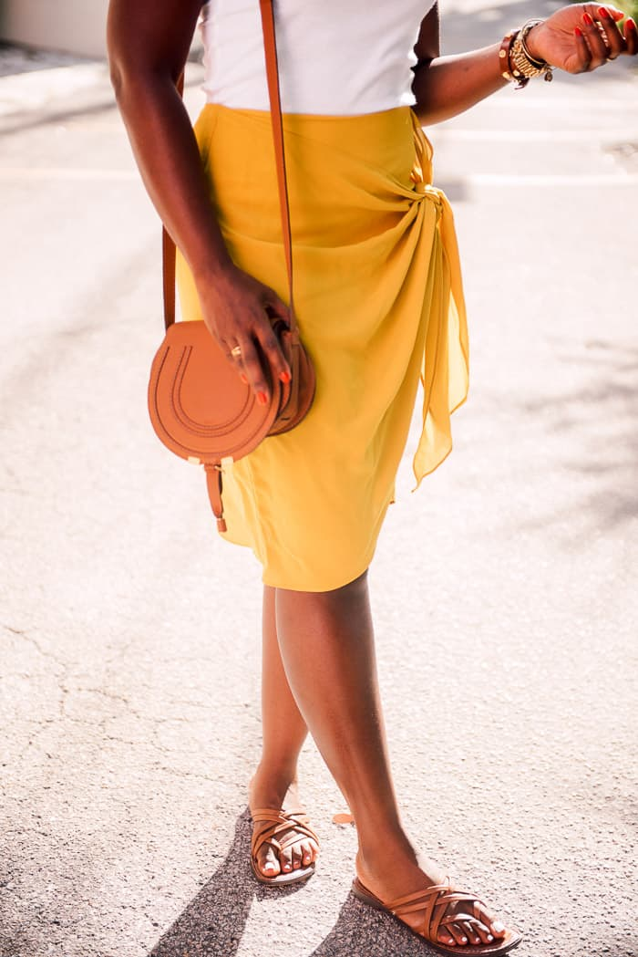 Wrap skirt? Vote for your flats