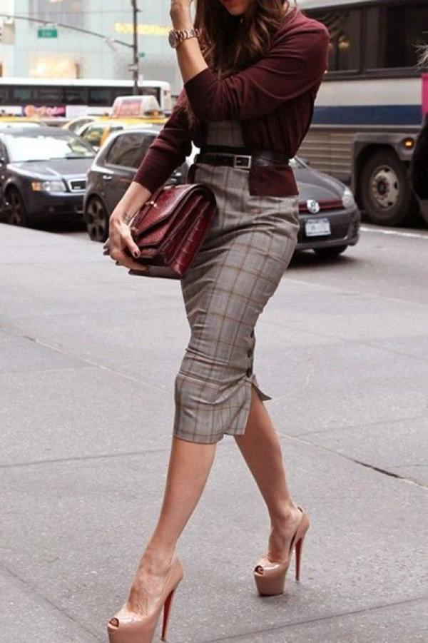 Pencil skirt? Go for low heels