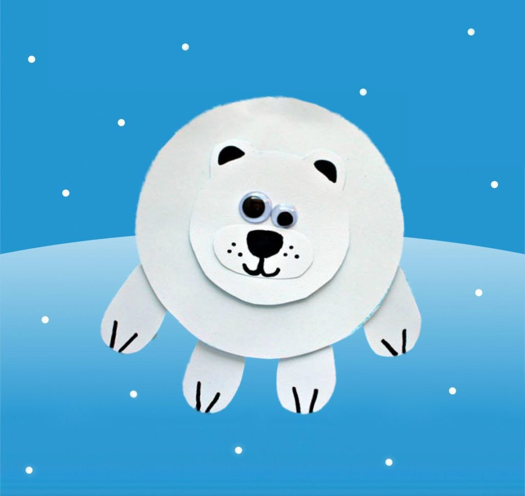 Applique Polar Bear.