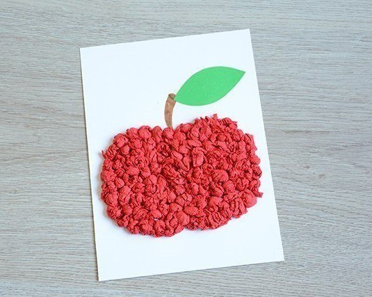 аппликация яблоко5