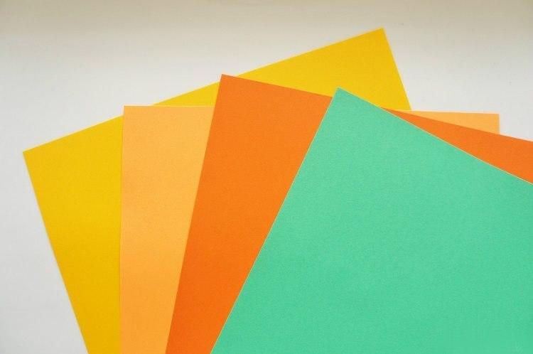 Mandarinen aus Papier1.