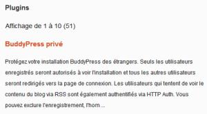 Plugins Buddypress