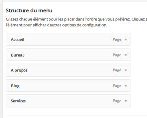Creer un menu personnalisé wordpress 2