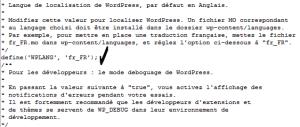Traduire wordpress en français