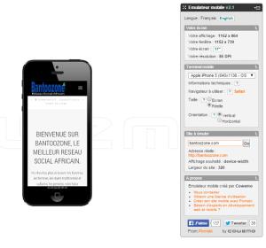 Affichage de site sur appareils mobiles
