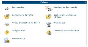 Transfert fichiers depuis serveur