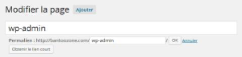 Ajouter un lien pointant vers l'administration de wordpress