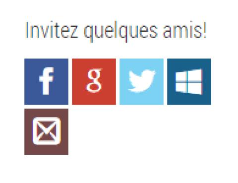WordPress invitations sociaux