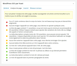 Wordpress seo: paramétrer un article
