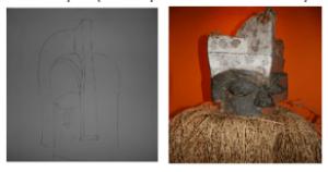 Le motif gabonais: masques sacrés