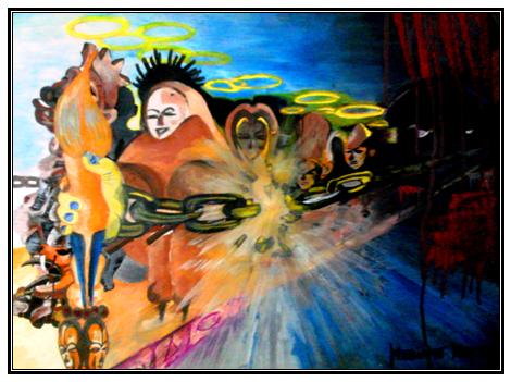 Delivrance: peinture gabonaise