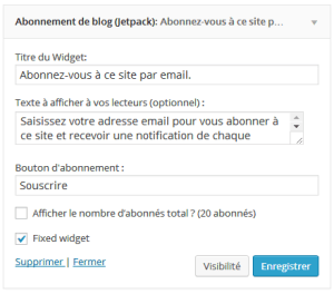 widgets wordpress flottants