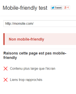 Site non mobile-friendly