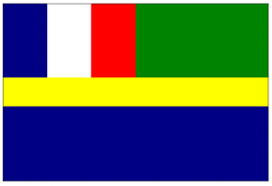 Les armoiries du Gabon: l'ancien drapeau gabonais