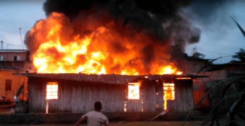 Incendie A Belles-Peintures-Libreville