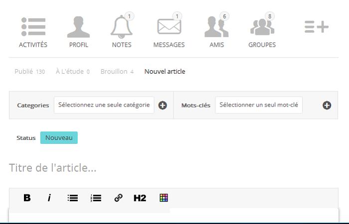 Rédiger un article de blog gratuit