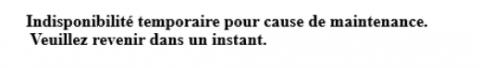 WordPress:  Indisponibilité temporaire pour cause de maintenance.
